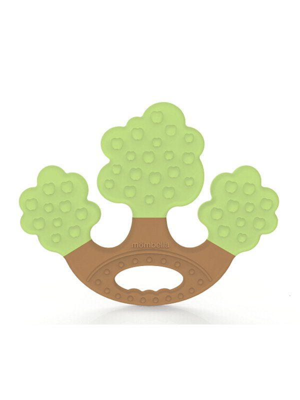 Mombella Apple Tree Teether Mainan Gigitan Bayi - Green