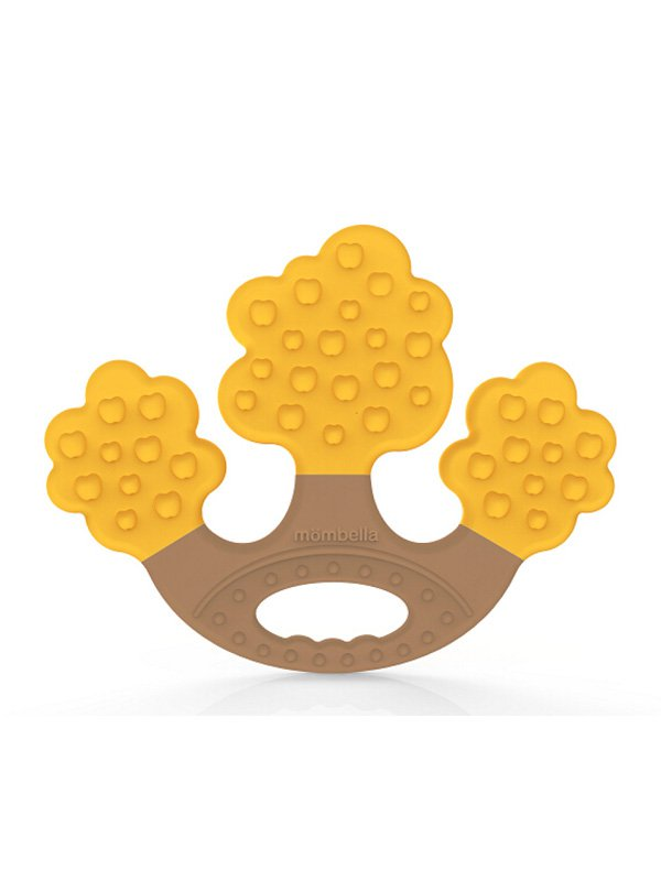 Mombella Apple Tree Teether - Yellow