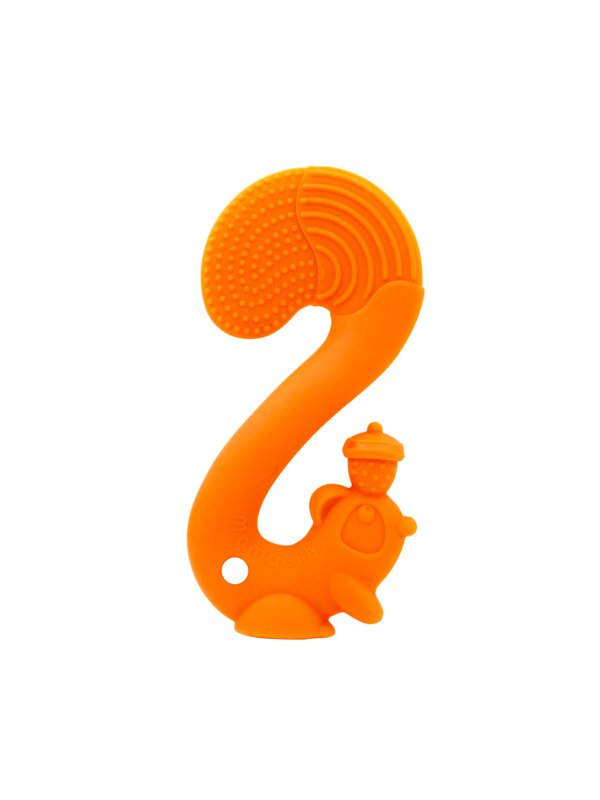 Mombella Squirrel Soothing Teether Mainan Gigitan Bayi - Orange