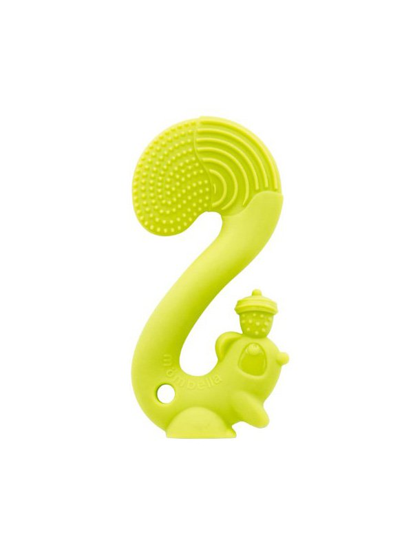 Mombella Squirrel Soothing Teether Mainan Gigitan Bayi - Green