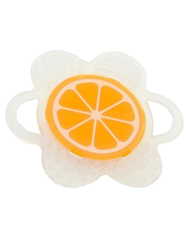 Mombella Flower Fruit Teether - Orange