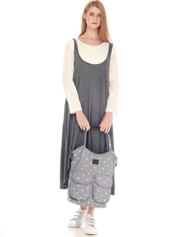 2 Piece Swing Long Sleeve Maternity & Nursing Dress
