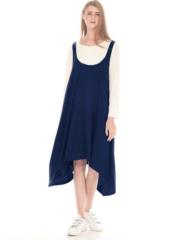 2 Piece Swing Long Sleeve Maternity & Nursing Dress Baju Ibu Hamil & Menyusui