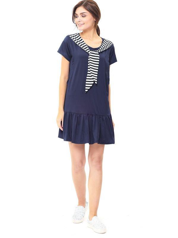 Navy Sailor Collar Nursing Dress Baju Hamil Menyusui