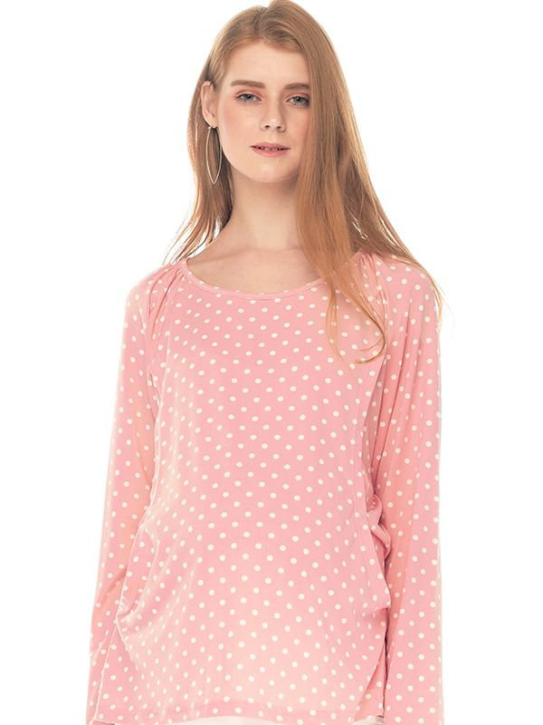 Polkadot Nursing long sleeve Top