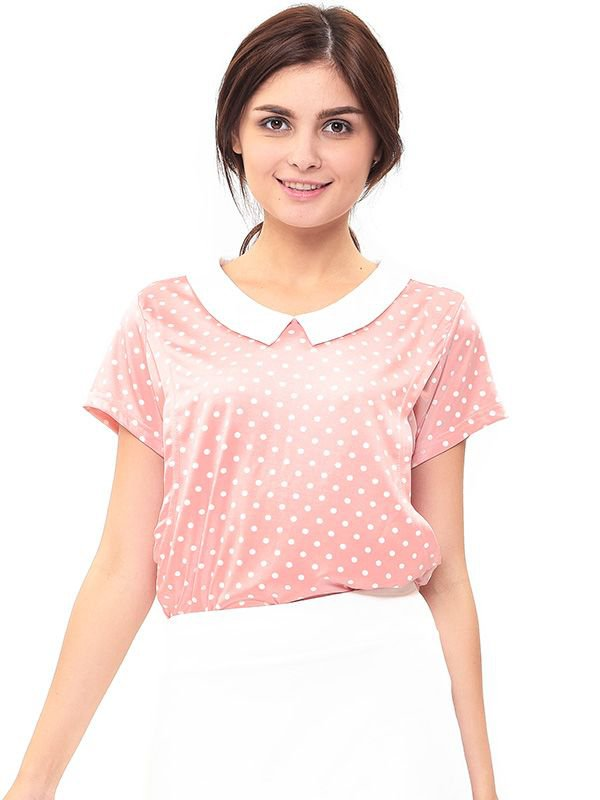 Vintage Nursing Top in Polka Dot