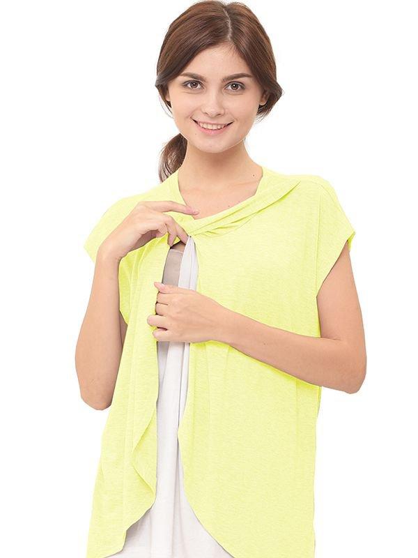 Maternity Nursing T-Shirt With Wrap Overlay