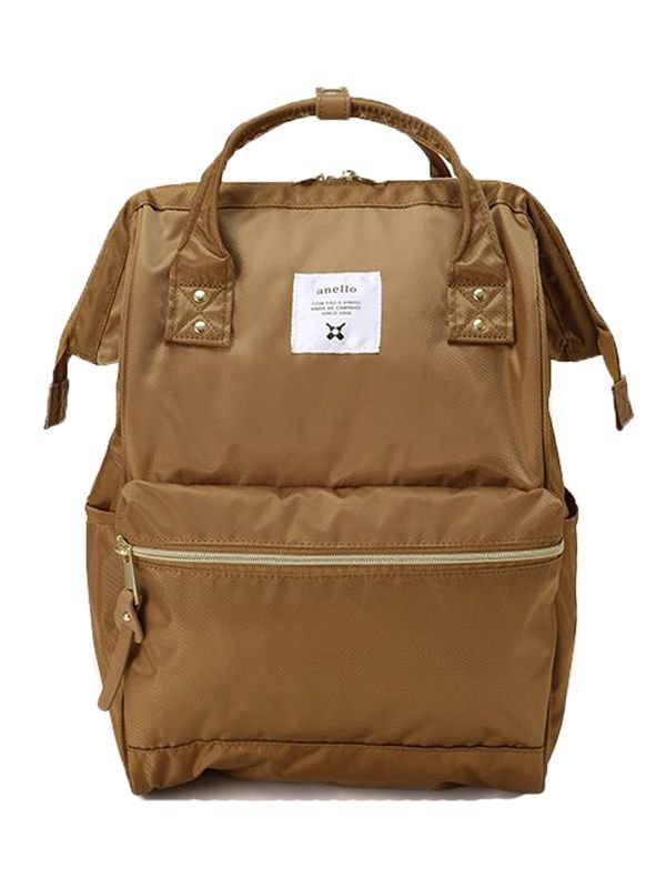 anello® Gloss Polyester Twill Cap Backpack Tas Ransel - Beige