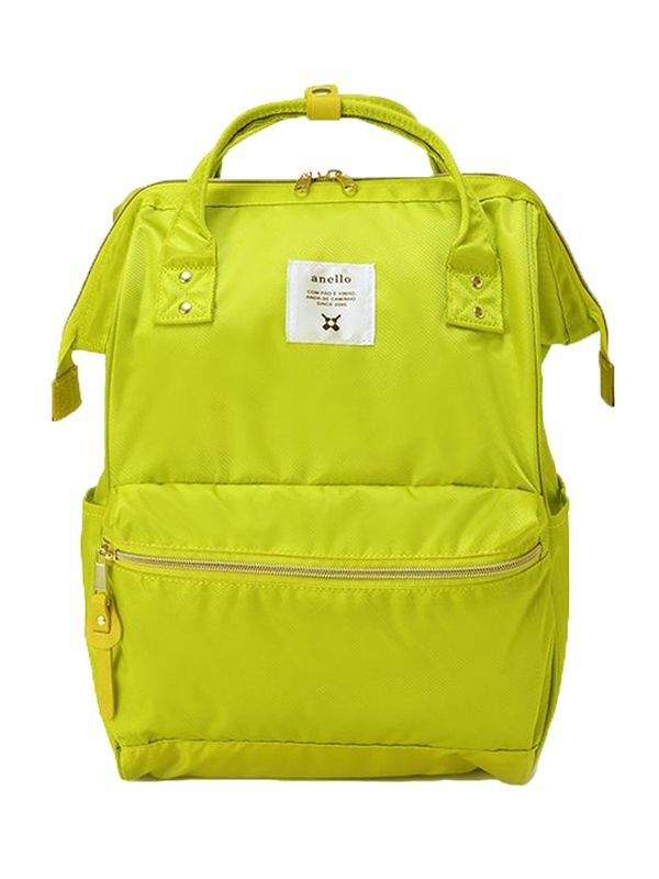anello® Gloss Polyester Twill Cap Backpack Tas Ransel -Yellow