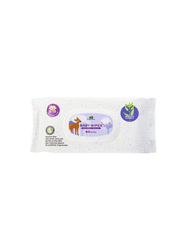 【小樹苗Little Tree】嬰兒天然濕紙巾80抽