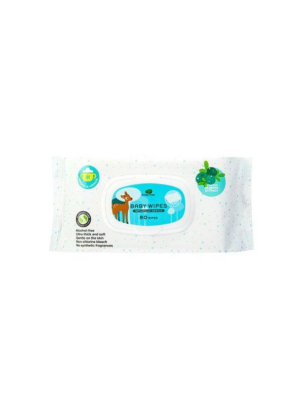 【小樹苗Little Tree】嬰兒天然濕紙巾80抽(手口專用)