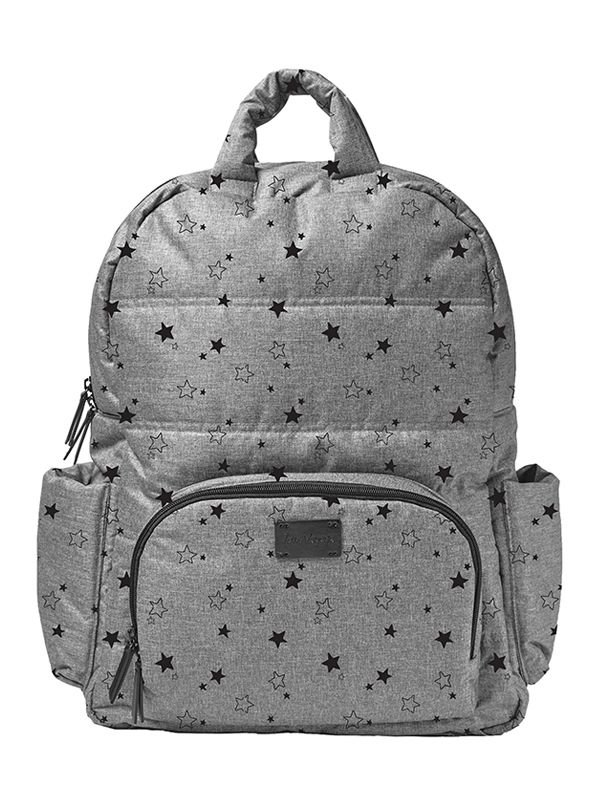 New York Backpack Tas Ransel Popok Bayi - Heather Grey Stars