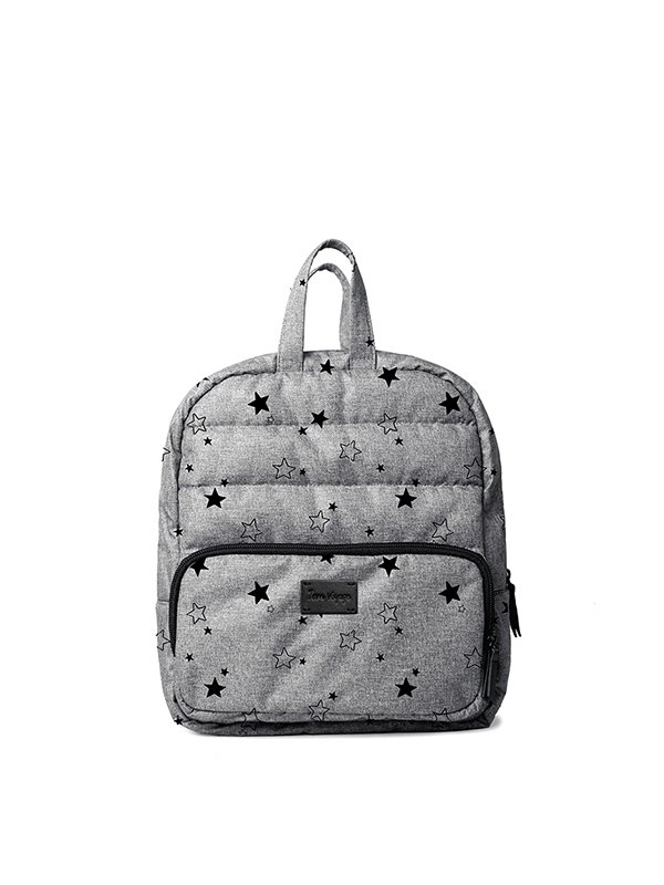 7 A.M. Mini Backpack Tas Ransel Anak - Heather Grey Stars