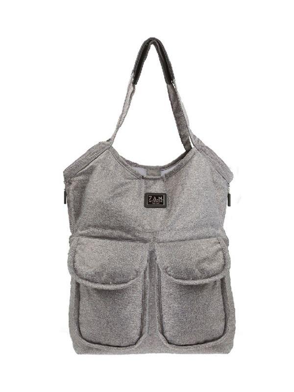 7 A.M. Barcelona Bag Diaper Bag Tas Popok Bayi - Heather Grey
