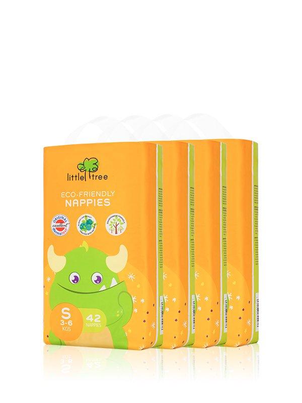 【小樹苗Little Tree】小怪獸環保尿布(42片X4包)-S號