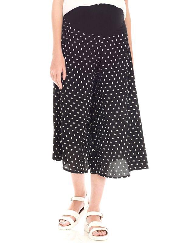 Maternity Wide Leg Polka Dot Trouser Celana Panjang Ibu Hamil