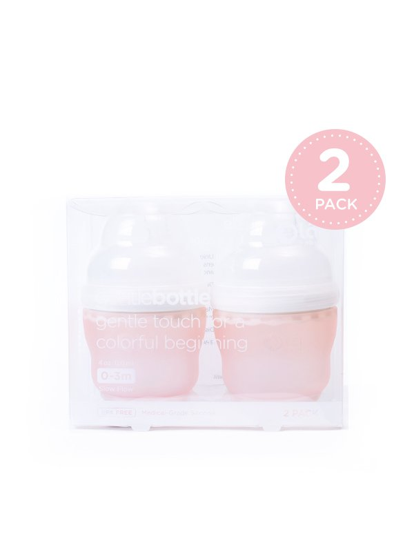 GentleBottle Botol Susu Anak Bayi -Coral 4oz (2PK)
