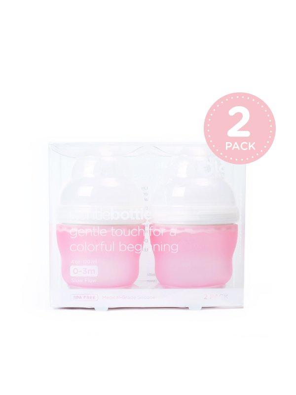 GentleBottle Botol Susu Anak Bayi -Rose 4oz (2PK)