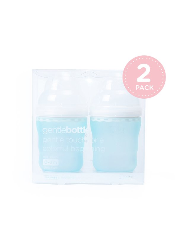 GentleBottle Botol Susu Anak Bayi -Sky 8oz (2PK)