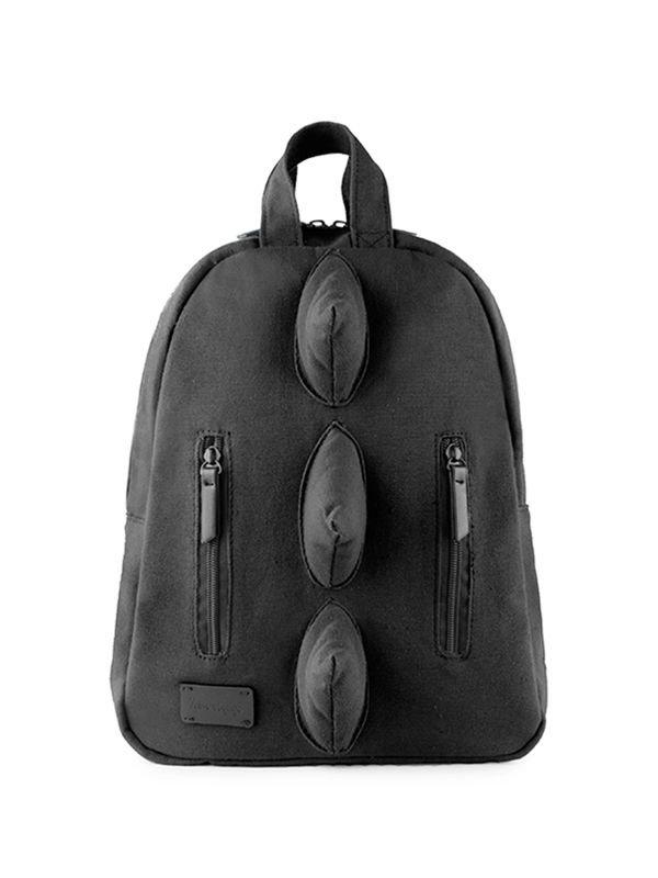 7 A.M. Mini Dino Cotton Backpack Tas Ransel Anak - Black