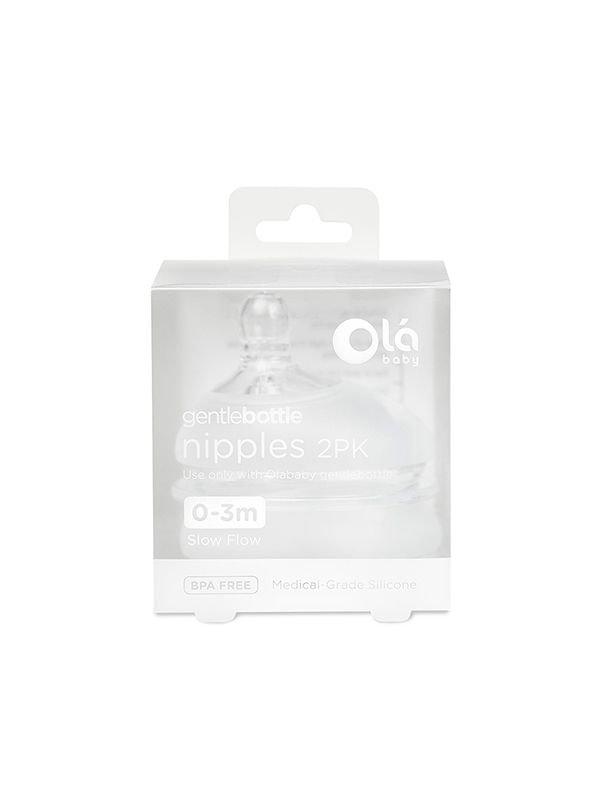 GentleBottle Slow Flow Nipple 0-3m (2PK)
