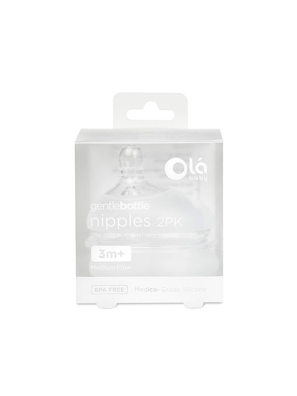 GentleBottle Medium Flow Nipple 3m+ (2PK)