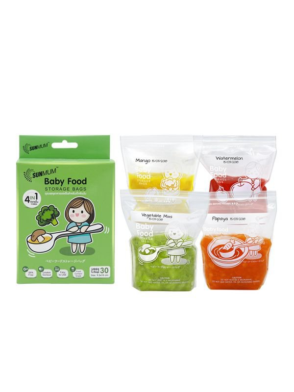Sunmum Food Storage Bags Kantong MPASI Bayi (30 Bag)