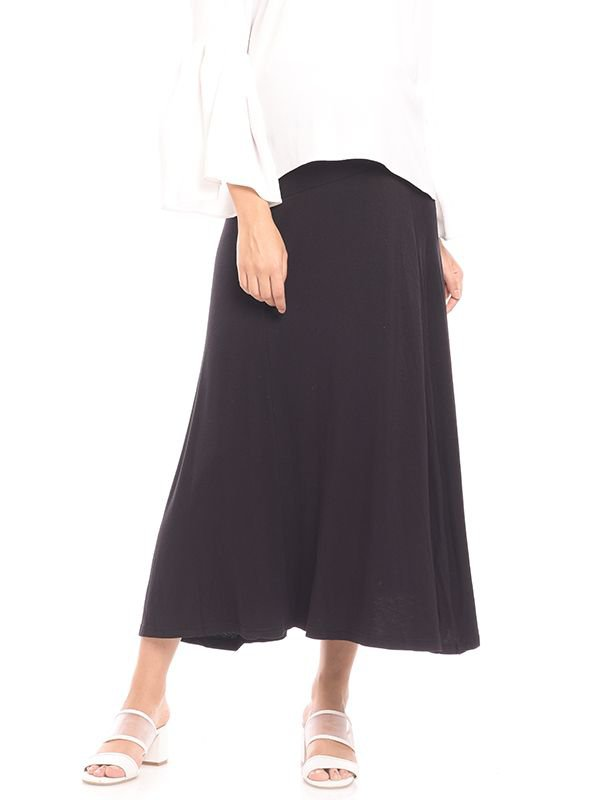 Pleated Maternity Maxi Skirt Rok Ibu Hamil