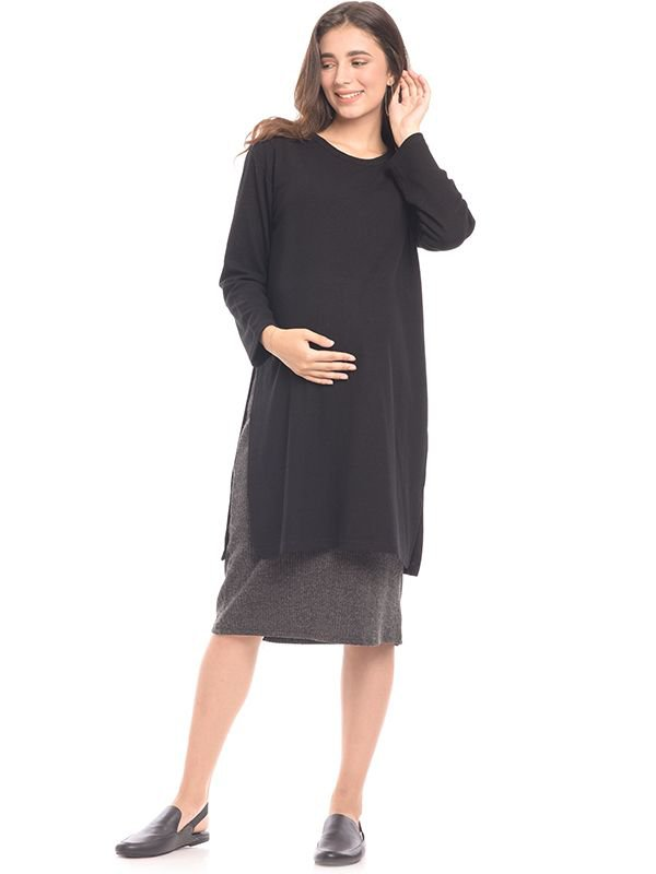 Maxi Double Layer Maternity & Nursing Dress Baju Hamil & Menyusui