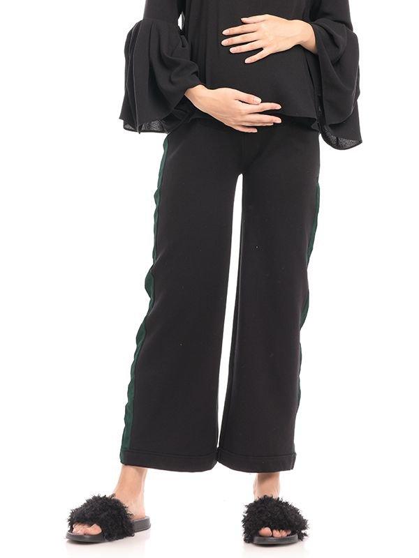 Green Side Pipe Maternity Trouser Celana Hamil