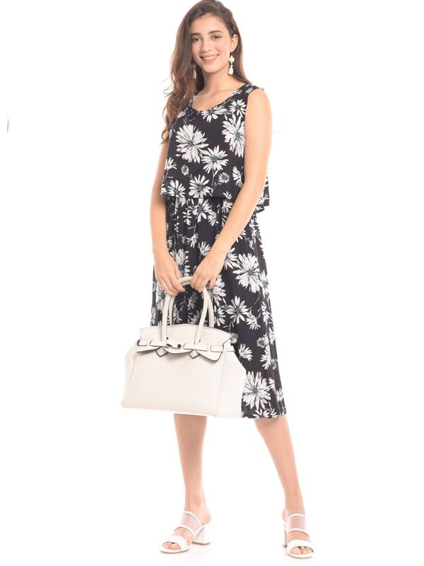 Floral Print Sleeveless Maternity & Nursing Dress Baju Hamil & Menyusui