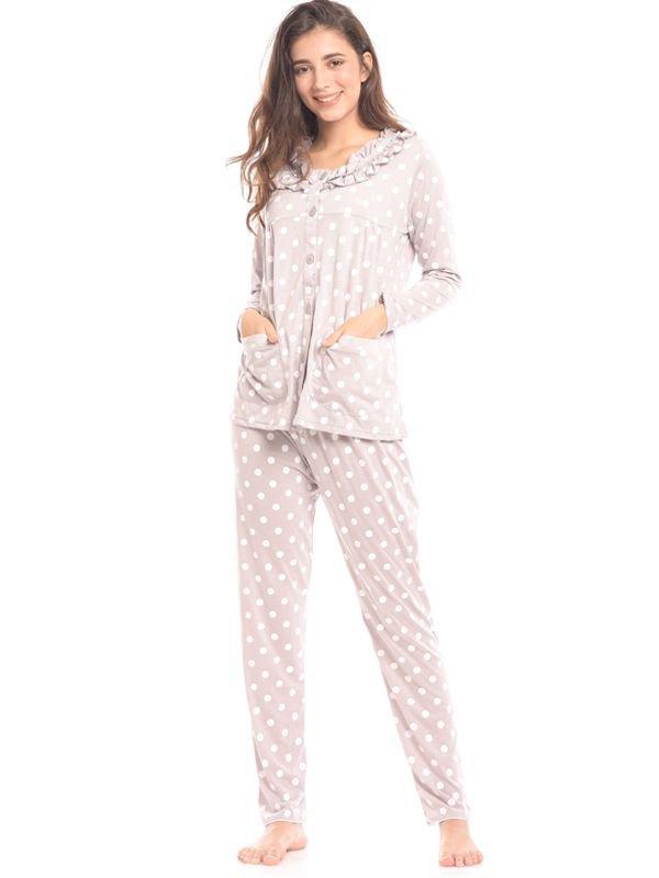 Maternity Nursing Polkadot Printed Pjama Set Baju Hamil & Menyusui