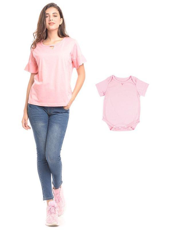 V-Shaped & Rimple Hand Nursing T-Shirt Baju Hamil & Menyusui