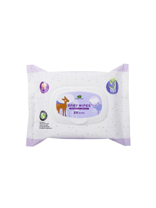 Little Tree Baby Wipes (General Use) 25 Wipes