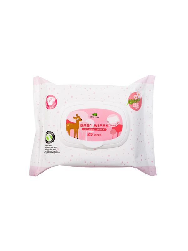 Little Tree Baby Wipes (For Nappy) 25Wipes