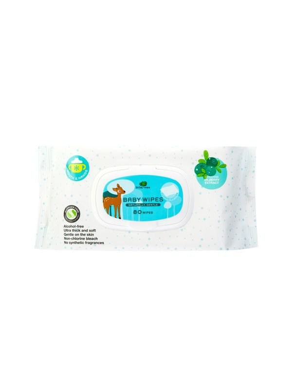 Little Tree Baby Wipes (Hands & Mouth) 80 Wipes