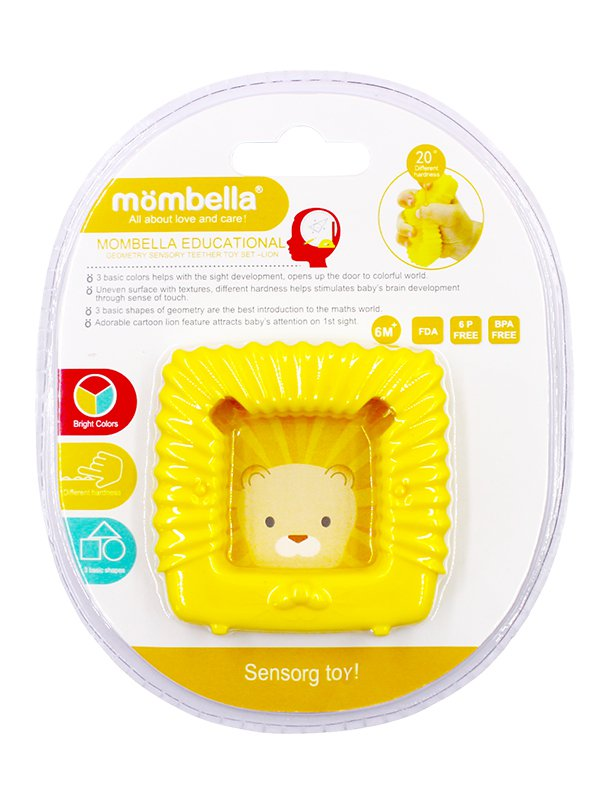 Mombella Educational Geometry Sensory Teether Toy Set - Lion