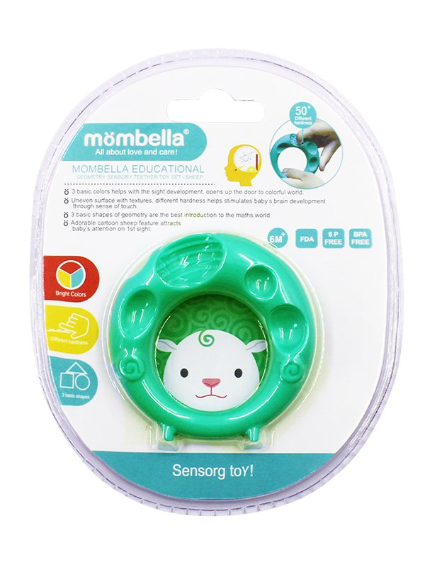 Mombella Educational Geometry Sensory Teether Toy Set - Sheep
