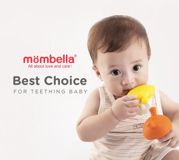 Gigitan bayi, teether bayi, gigitan bayi lucu, gigitan bayi unik, sandal bayi, gigitan bayi yang aman, BPA FREE, mombella, MOOIMOM