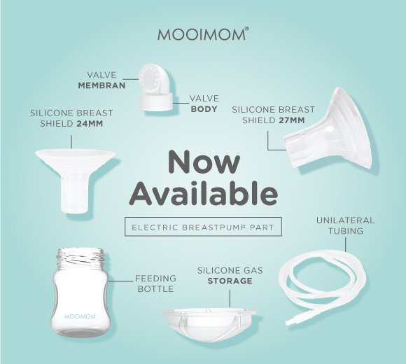 sparepart, electric breastpump, mooimom, mooimomid