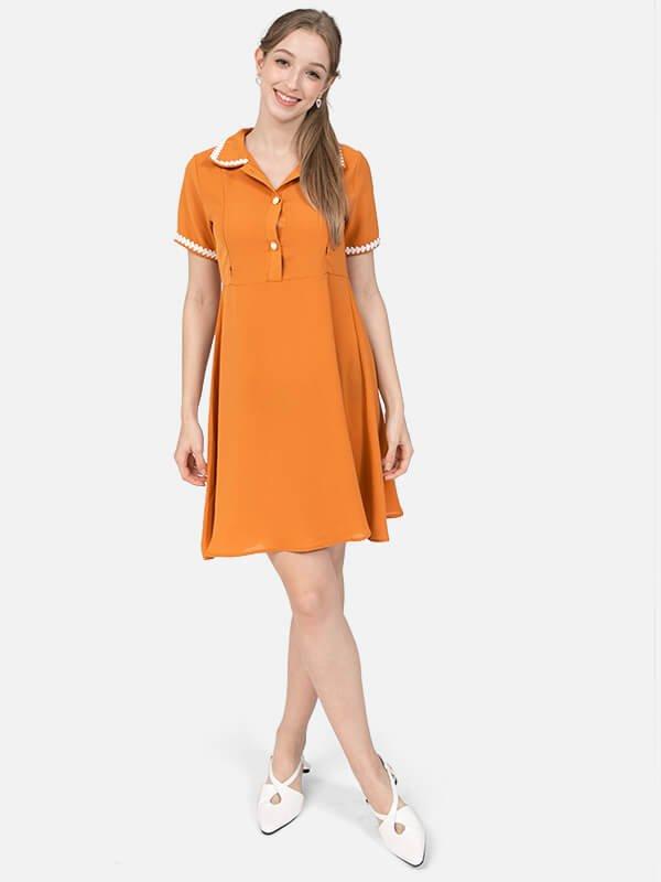 MOOIMOM Collar Nursing Dress - Baju Hamil & Menyusui