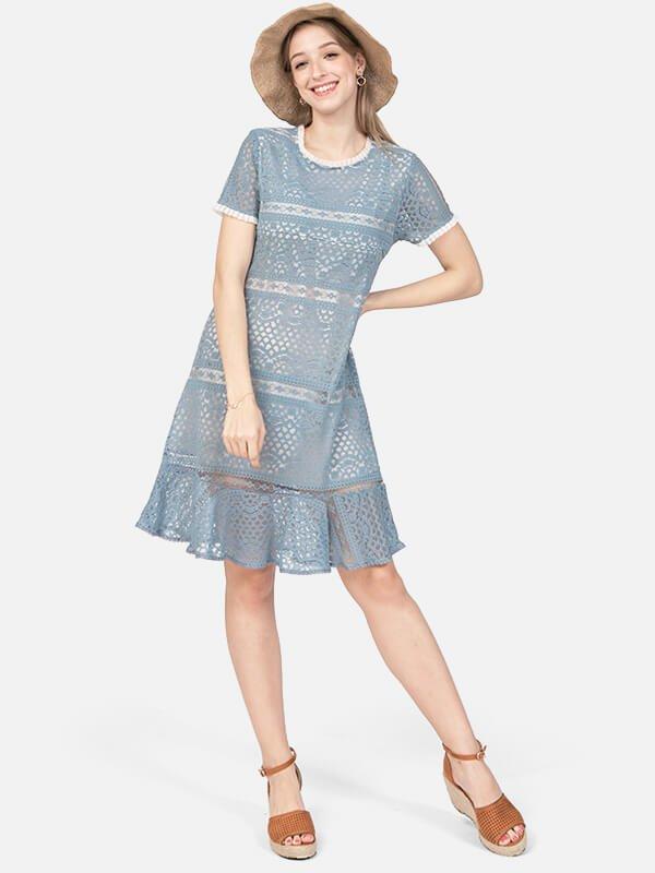 MOOIMOM Lace Nursing Dress/Baju Menyusui
