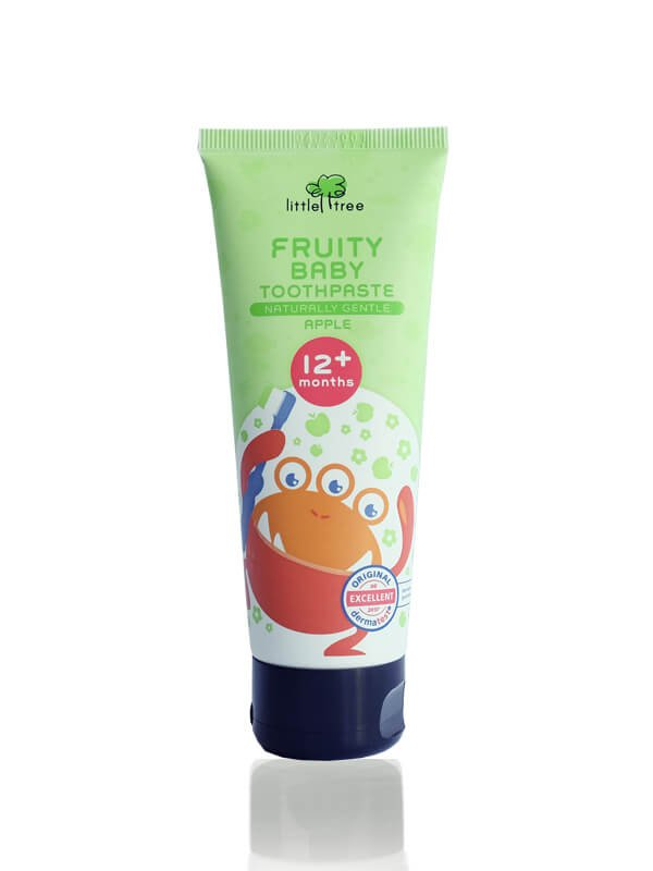 Little Tree Fruity Fresh Toothpaste_12+months 70g(Apple) Pasta Gigi Organik Anak Bayi