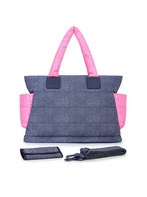 CIPU Airy Tote Bag Eco Denim Pink L