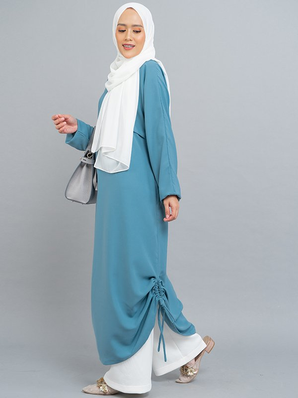 MOOIMOM Gamis Dress with drawstring Blue