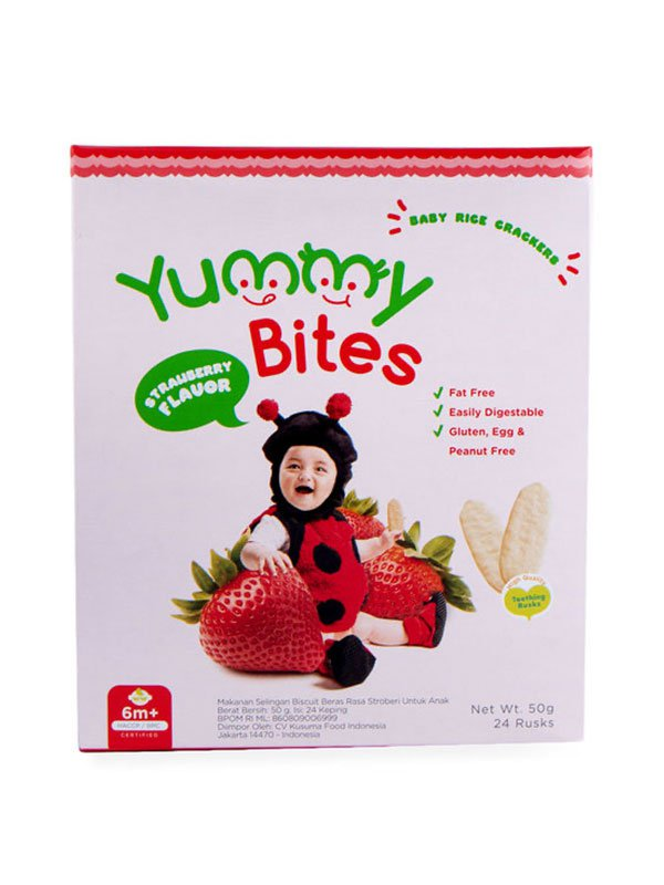 YUMMY BITES Crackers Strawberry 50gr