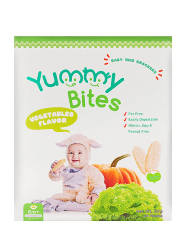 YUMMY BITES Crackers Vegetable 50gr