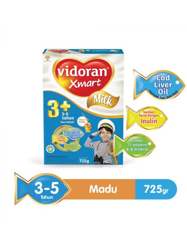 VIDORAN Xmart 3+ Madu 725g