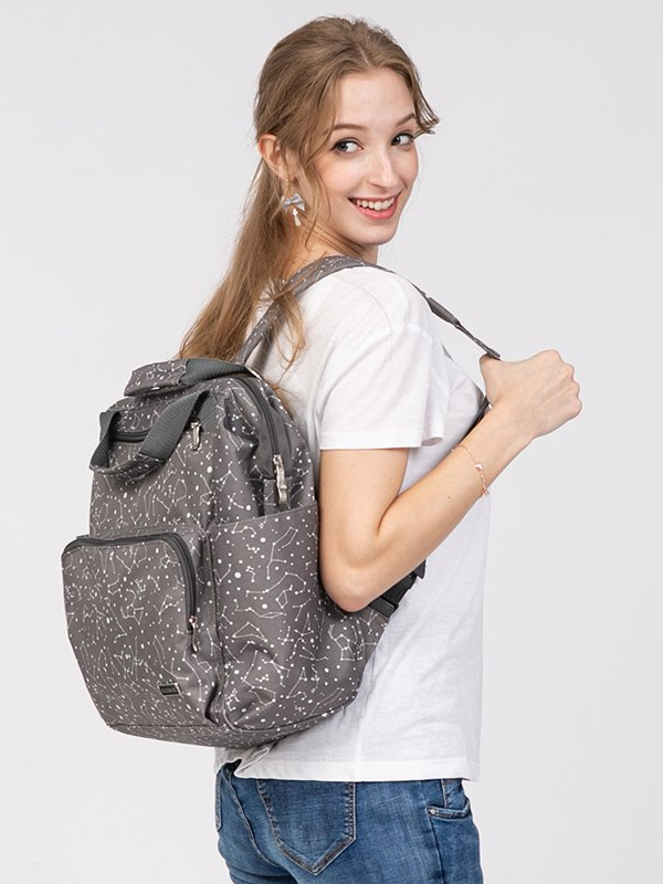 MOOIMOM Fashionable Diaper Bag Dark Grey