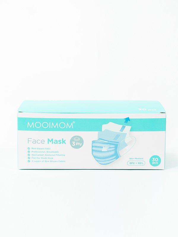 MOOIMOM Disposable Face Mask 30 Pcs - Masker Sekali Pakai Dewasa